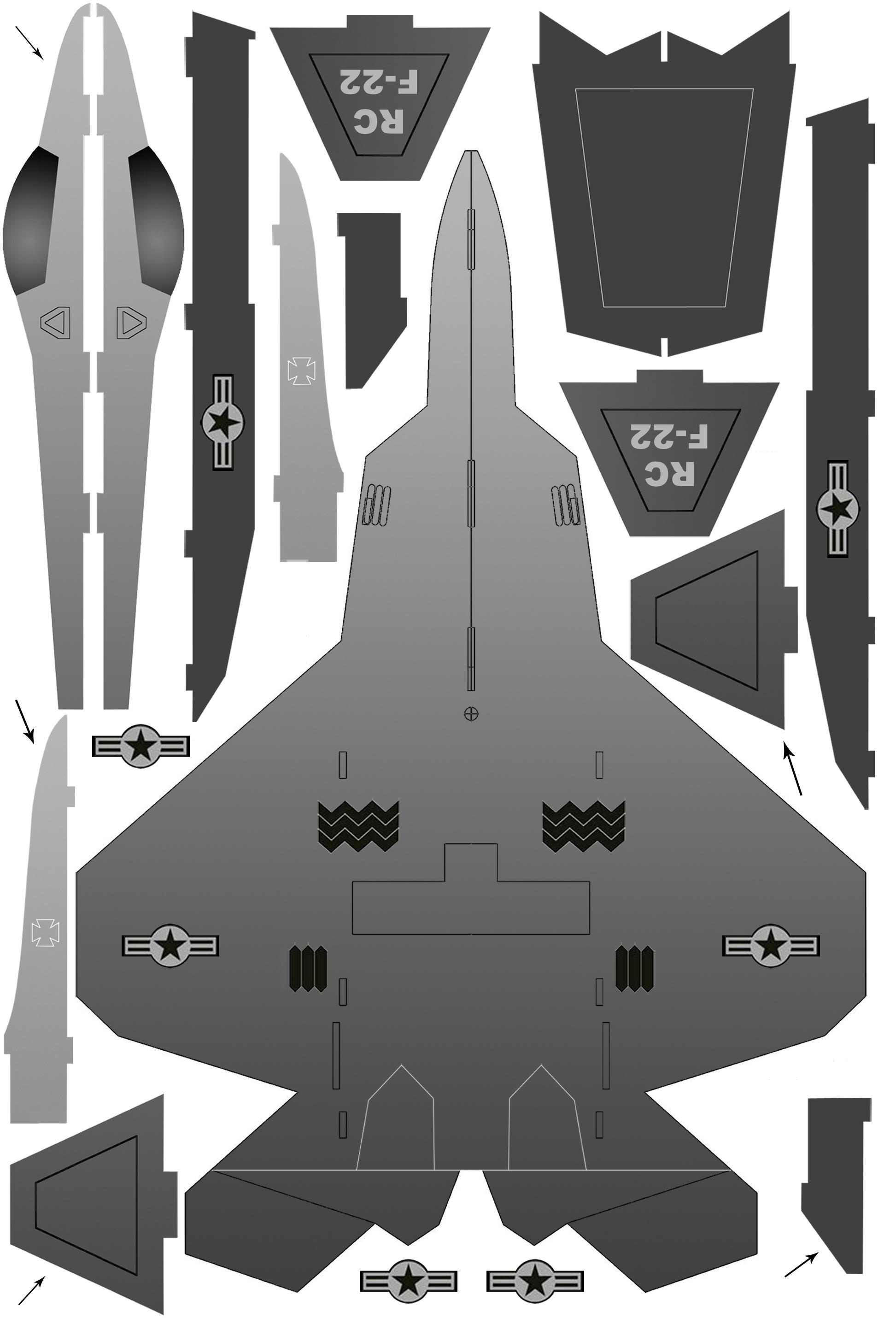 用kt板制作一架能飞的f-22战斗机模型